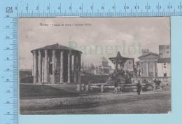 Italia Roma - Tempio Di Vesta E Fortuna Virile, Animated, Cover Roma 1907, -> Dresden - Vienne