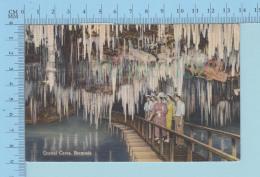 Bailey's Bay Bermuda -  CAVE; Crystal Caves, Tourist On A Bridge, Cover Hamilton Bermuda + Stamp SG 100, Linnen Card - Bermudes