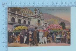 Monte-Carlo Monaco -  Le Café De Paris Très Animé, Cachet Nice 1930 Pl. Grimaldi Et Sa Cote Fleuri, -> USA Not For Ci - Monte-Carlo