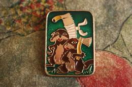 USSR Russia Old Pin Badge - Beaver - Ermine - Geneeskunde
