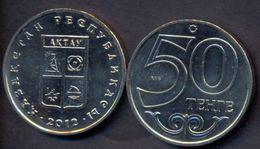 Kazakhstan 50 Tenge 2012 UNC < City AKTAU > Commemorative Coin - Kazakhstan