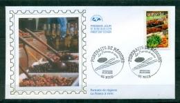FDC (soie-silk-Seide ) # 2004 -France #  Tourisme - Portraits De  Régions - La France à Vivre - Le Marché # Nice - FDC