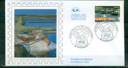 FDC ( Soie,silk,Seide ) # 2006 -France #  Portraits De Régions # La France à Vivre #  Les Marais Salants # Guérande - FDC