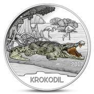 AUSTRIA 3 EURO COLORFUL CREATURES CROCODILE ANIMALS 2017 UNC - Austria