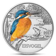 AUSTRIA 3 EURO COLORFUL CREATURES KINGFISHER BIRD FAUNA 2017 UNC - Autriche