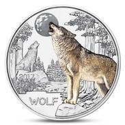 AUSTRIA 3 EURO COLORFUL CREATURES WOLF ANIMAL MOON 2017 UNC - Autriche