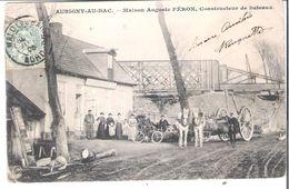 CPA  NORD AUBIGNY-AU-BAC Maison Auguste FERON Constructeur De Bateaux  Vendu En L'état (défauts) - Francia