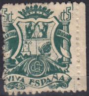 VIVA ESPAÑA GRANADA CARIDAD,SELLO VIÑETA 5 CÉNTIMOS VIVA ESPAÑA.- VERDE - Impuestos De Guerra