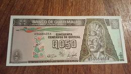 BILLET DU GUATEMALA 1989 50 CENTAVOS DE QUETZAL NEUF - Guatemala
