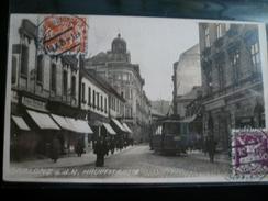 Gablonz Hauptstrasse With Tram- Photocard 1925 No Travelled - Repubblica Ceca