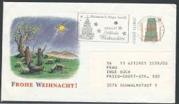 GERMANY 1991 COVER CHRISTMAS - BRD