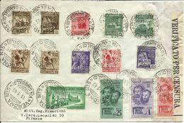 RSC105-Lettera Con Vari Monumenti Distrutti I-II Em. + Bandiera 11.1.1945 - D'effetto - 4. 1944-45 República Social
