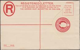 Gibraltar 1903. Entier Postal, Enveloppe Pour Envois Recommandés. Edward VII, 2 P Rouge - Gibraltar