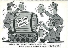 Beer/bière/Bier. Militaria > Humour.Soldaten Ulk Karte - Humor