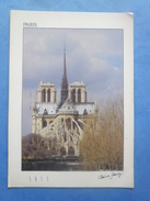 75-PARIS Notre Dame , écrite Au Verso Et Circulée , 2 Scans - Arrondissement: 04