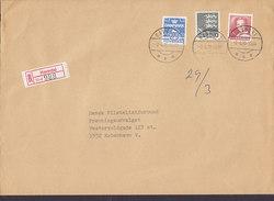 Denmark Registered Recommandé Label Bro IId HAVNDAL 1990 Cover Brief 26 Kr. Wappenlöwe - Briefe U. Dokumente