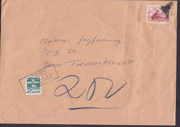 Denmark SKIBBY 1983 Cover Brief Boxed PORTO AT BETALE Cds. TAXE Postage Due - Briefe U. Dokumente