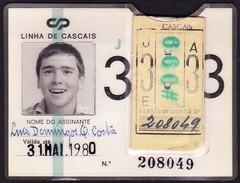 Portugal, PASSE 1980 - Portuguese Railwais/ Caminhos De Ferro Portugueses // Cascais - Europe
