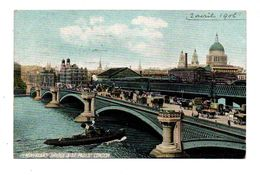ROYAUME UNI . LONDON . BLACKFRIARS BRIDGE & St. PAUL'S CATHEDRAL - Réf. N°6474 - - St. Paul's Cathedral