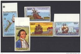 Togo  -   1979  :  Yv  944-45 + Av  373-76  **   Non Dentelé ,  Cook   Bateau - Boat - Togo (1960-...)