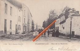 FLORENVILLE - Rue De La Station - Carte Très Animée - Florenville