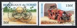 CIAD - 1998 - AUTOMEZZI DEI POMPIERI - USATI - Ciad (1960-...)