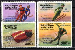 CIAD - 1976 - VINCITORI DELLE MEDAGLIE OLIMPICHE DI INNSBRUCK - USATI - Ciad (1960-...)