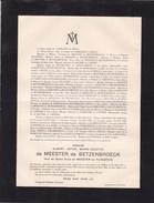 POPPEL Albert De MEESTER De BETZENBROECK Veuf De MEESTER De RAVENSTEIN 1867-1944 Mort NIEUWKERK-POPPEL - Décès
