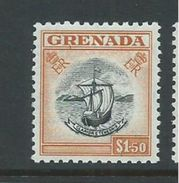 Grenada 1953 QEII Definitives $1.50 Boat Seal Of Colony Single MNH - Grenada (...-1974)