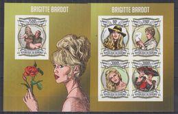 BURUNDI 2013 - Cinéma, Brigitte Bardot - Feuillet 4 Val + BF ND Neufs // Mnh Imp // CV 71.00 Euros - Burundi
