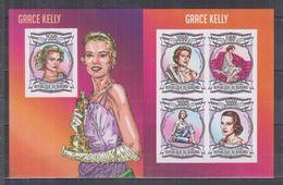 BURUNDI 2013 - Cinéma, Grace Kelly - Feuillet 4 Val + BF ND Neufs // Mnh Imp // CV 71.00 Euros - Burundi
