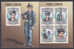 BURUNDI 2013 - Cinéma, Charlie Chaplin - Feuillet 4 Val + BF ND Neufs // Mnh Imp // CV 71.00 Euros - Burundi