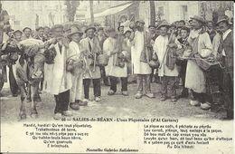 SALIES DE BEARN , L'ous Piquetalos ( D' Al Cartero ) , Reproduction D'une CPA ANIMEE - Salies De Bearn