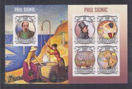 BURUNDI 2013 - Arts, Tableaux, Œuvres De Paul Signac - Feuillet 4 Val + BF ND Neufs // Mnh Imp // CV 71.00 Euros - Burundi