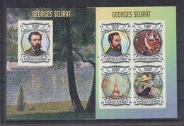 BURUNDI 2013 - Arts, Tableaux, Œuvres De George Seurat - Feuillet 4 Val + BF ND Neufs // Mnh Imp // CV 71.00 Euros - Burundi