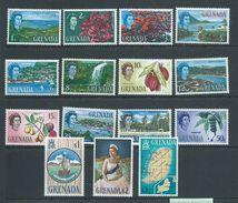 Grenada 1966 QEII Definitives Set Of 15 MNH - Grenada (...-1974)