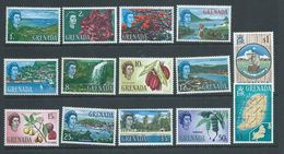 Grenada 1966 QEII Definitives Part Set Of 14 To $3 Map MNH - Grenada (...-1974)
