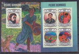 BURUNDI 2013 - Arts, Tableaux, Œuvres De Pierre Bonnard - Feuillet 4 Val + BF ND Neufs // Mnh Imp // CV 71.00 Euros - Burundi