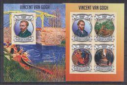BURUNDI 2013 - Arts, Tableaux, Œuvres De Vincent Van Gogh - Feuillet 4 Val + BF ND Neufs // Mnh Imp // CV 71.00 Euros - Burundi
