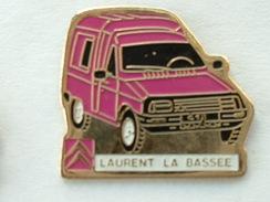 PIN'S CITROËN - LAURENT LA BASSEE - C15 ROSE - Citroën