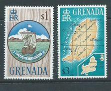 Grenada 1966 QEII Definitives $1 Boat Seal Of Colony & $ 3 Map MNH - Grenada (...-1974)