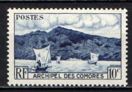 COMORES - 1950 - BAIA DI ANJOUAN - NUOVO MNH - Isole Comore (1975-...)