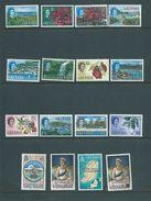 Grenada 1967 QEII Definitives Associated Statehood Overprint Set Of 16 MNH - Grenada (...-1974)