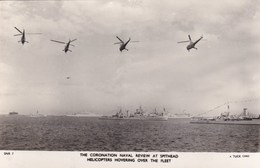 SPITHEAD-CORONATION REVIEW.  HELECOPTERS HOVERING OVER THE FLEET - Warships