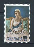 Grenada 1967 QEII Definitives Associated Statehood Overprint $5 Queen Single MNH - Grenada (...-1974)