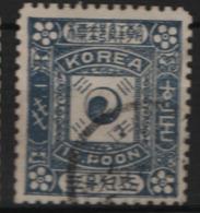 Corea 1895  Y.T.7 O/Used VF/F - Korea (...-1945)