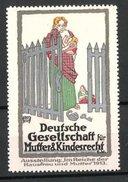 """Reklamemarke Berlin, Ausstellung """"Im Reiche Der Hausfrauen Und Mutter"""" 1913, Mutter Mit Kind Vor Geöffneten Tor - Erinnofilie"""