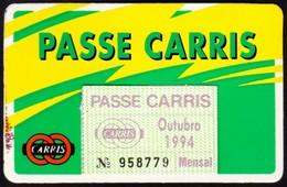 Portugal, PASSE 1994 - CARRIS, Companhia Carris De Ferro De Lisboa - Europe