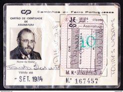 Portugal, PASSE 1984 - Portuguese Railwais/ CP, Caminhos De Ferro Portugueses - Europe