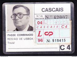 Portugal, PASSE 1996 - Portuguese Railwais/ CP, Caminhos De Ferro Portugueses // Cascais - Europe